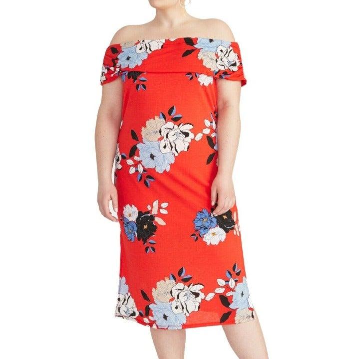 Rachel Roy Plus Size Midi Dress 1X 18/20