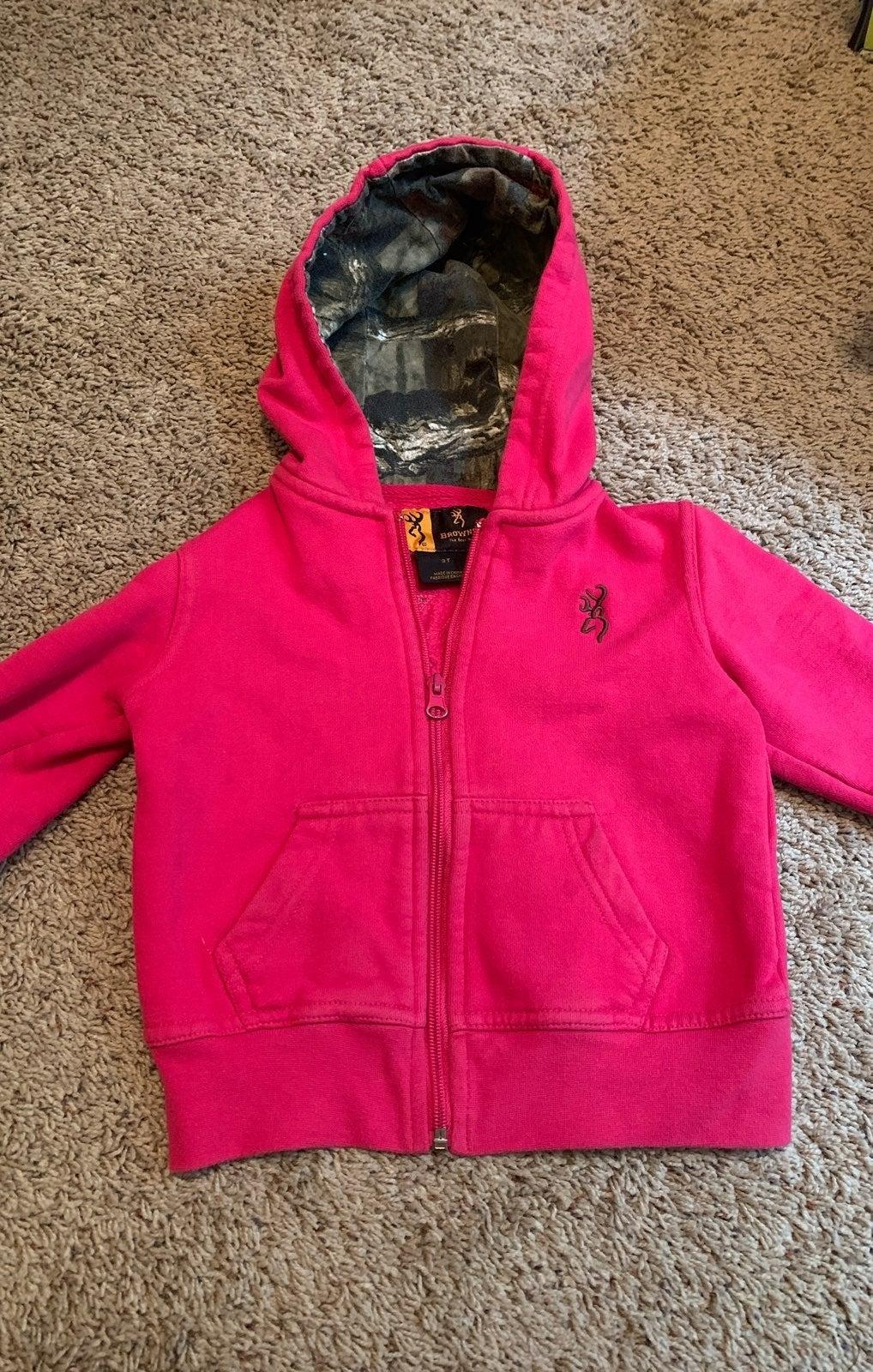 Pink browning Hoodie 3t