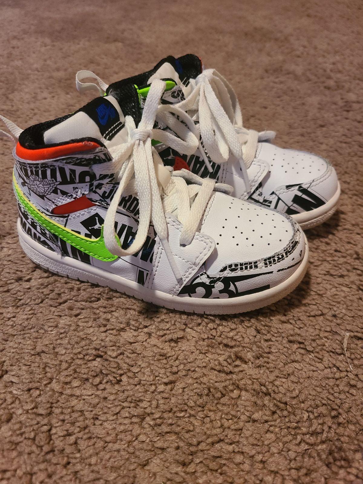 """Air Jordan 1 Mid """"Racer Pack"""" Toddler si"""