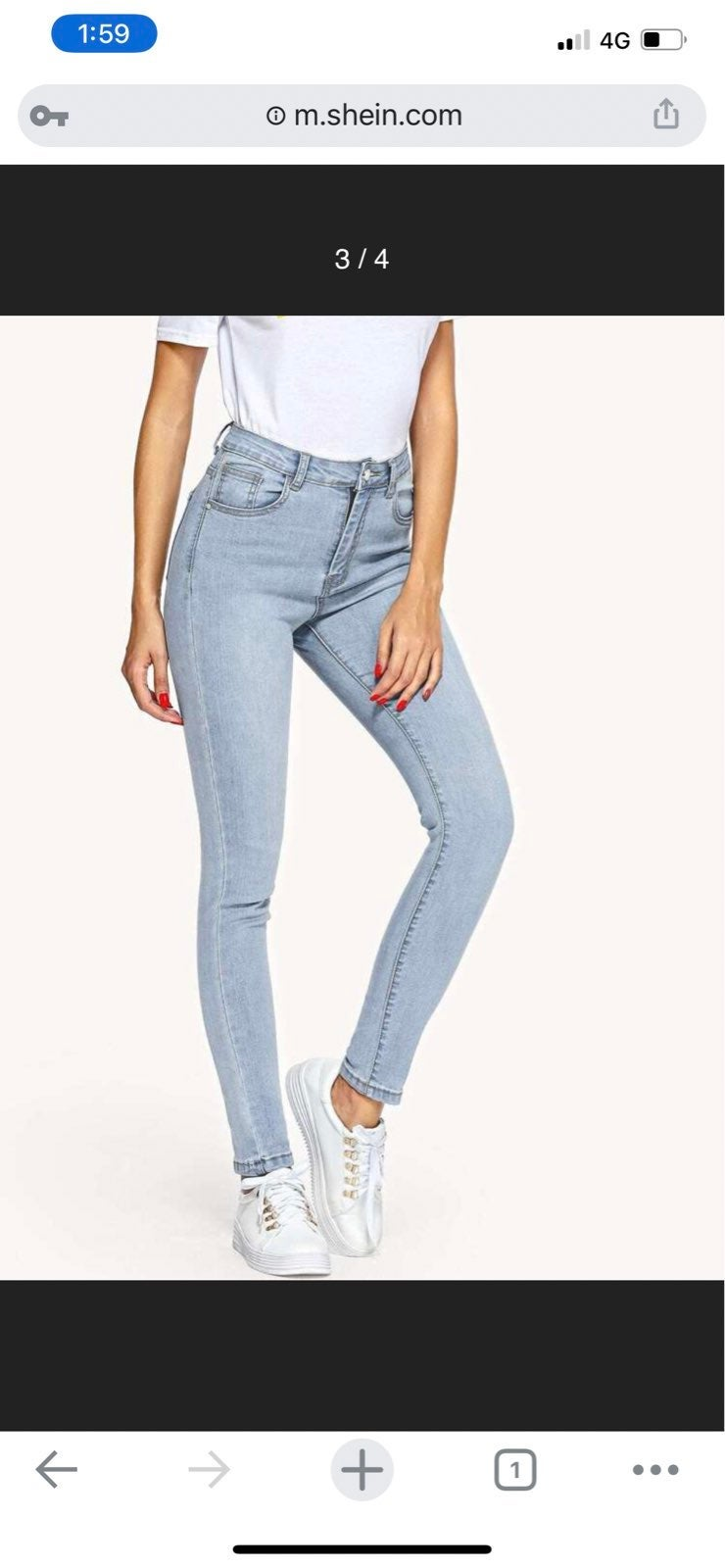 Faded Wash Jeans