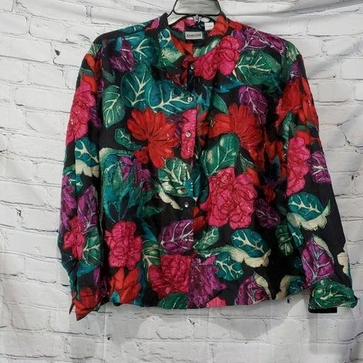 chicos night tropic silk jacket NWT