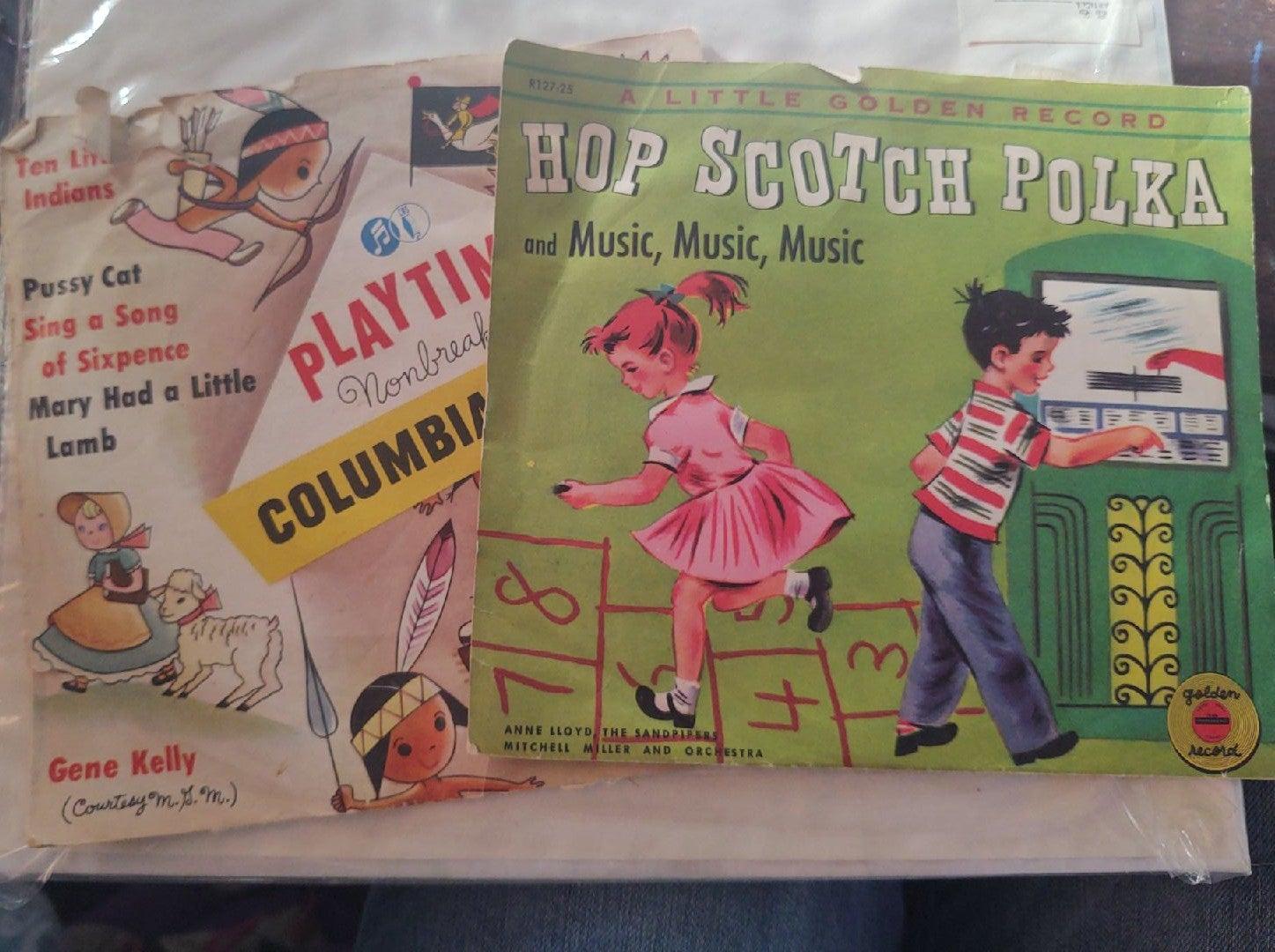 2 Vintage 78 Kids albums Kelly, playtime