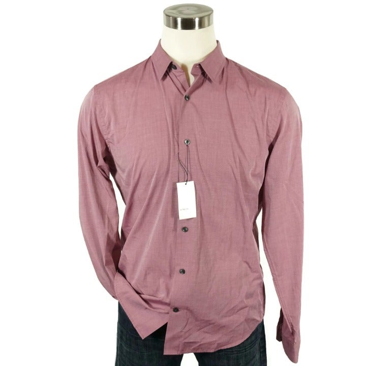 Vince Men Button Long Sleeve Shirt Large