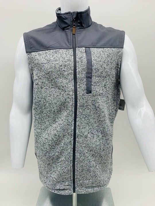 George Men's & Big Men's Sweater Fleece Vest in 2XL Grey