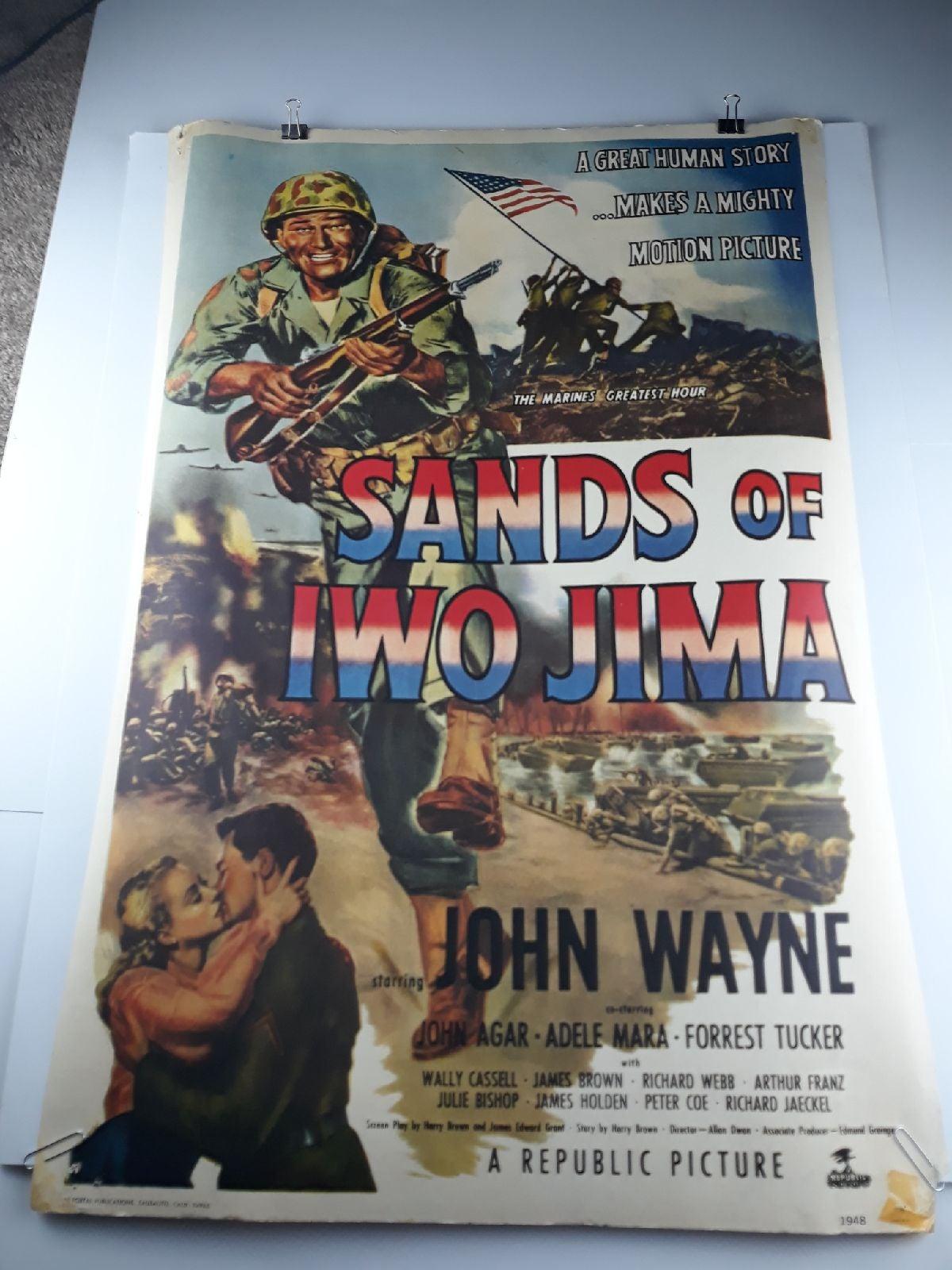 Vintage 1970s Sands of Iwo Jima reprint