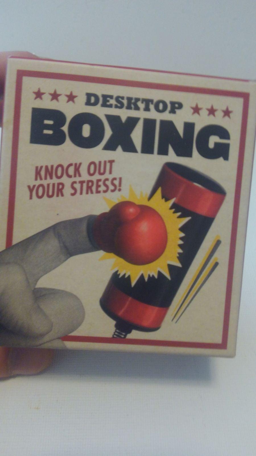 Desktop Boxing Gloves + Bag + Book NEW