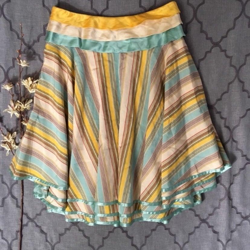 Fun Full Flirty Tiered Silk Blend Skirt