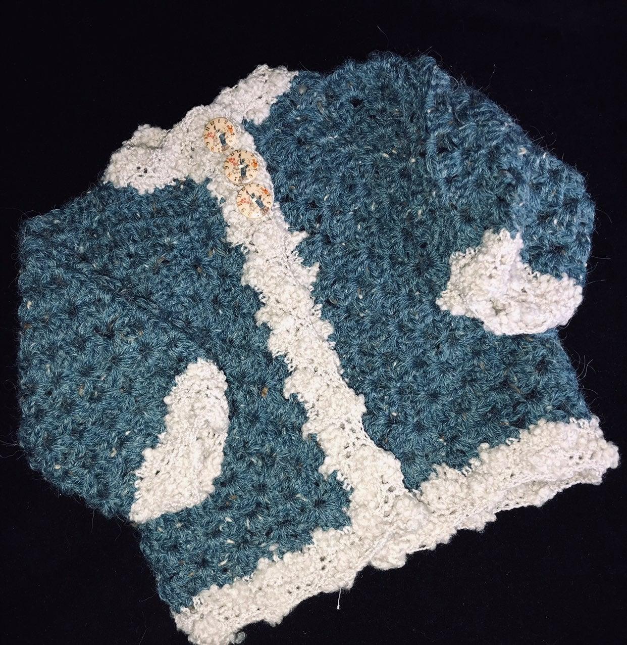 12-24 Months Boutique Crochet Cardigan