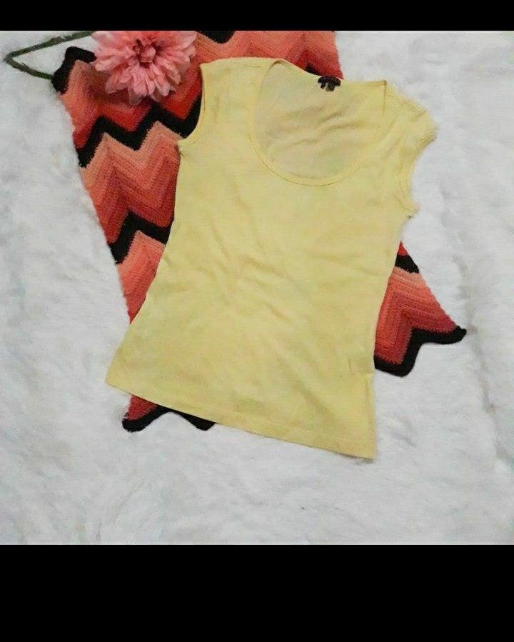 theory yellow tank top