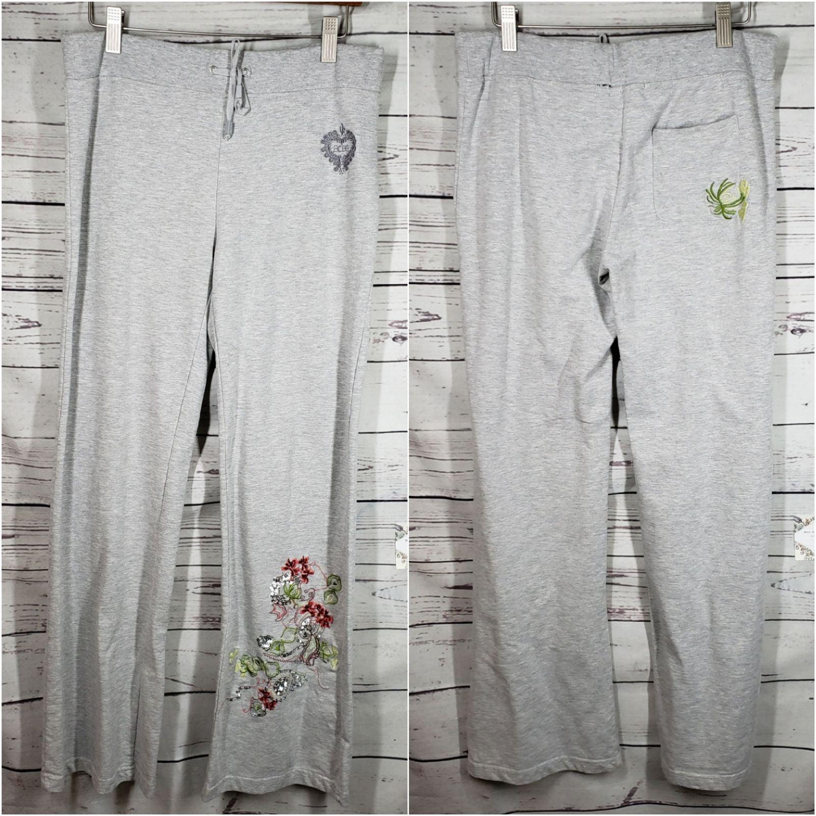 BCBG max azria • embroidered sweatpants