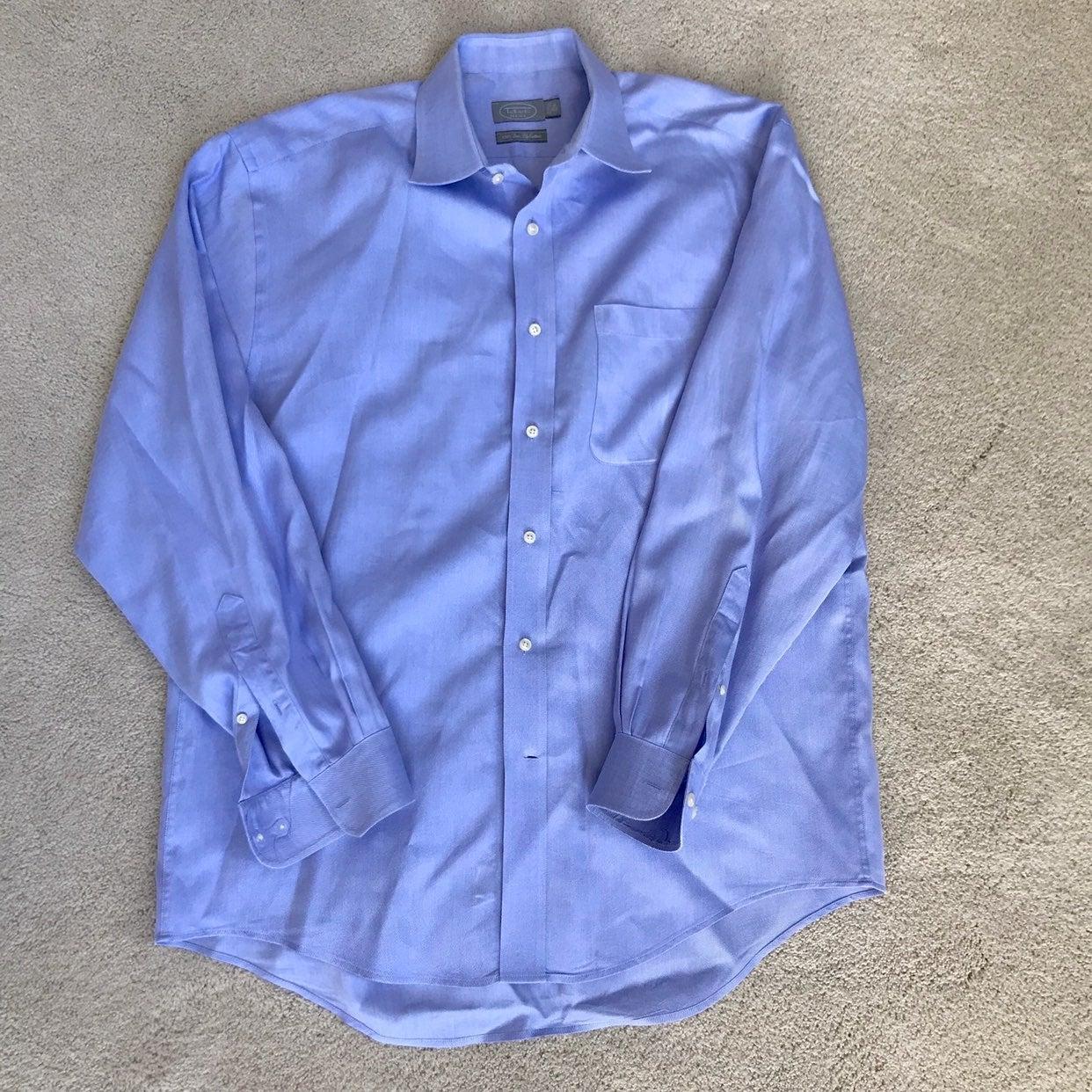 Talbots blue Dress Shirt 16-1/2, 34/35