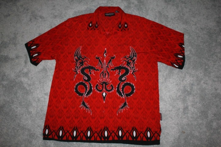 Sapphire Lounge Size XL Mens Red Tribal