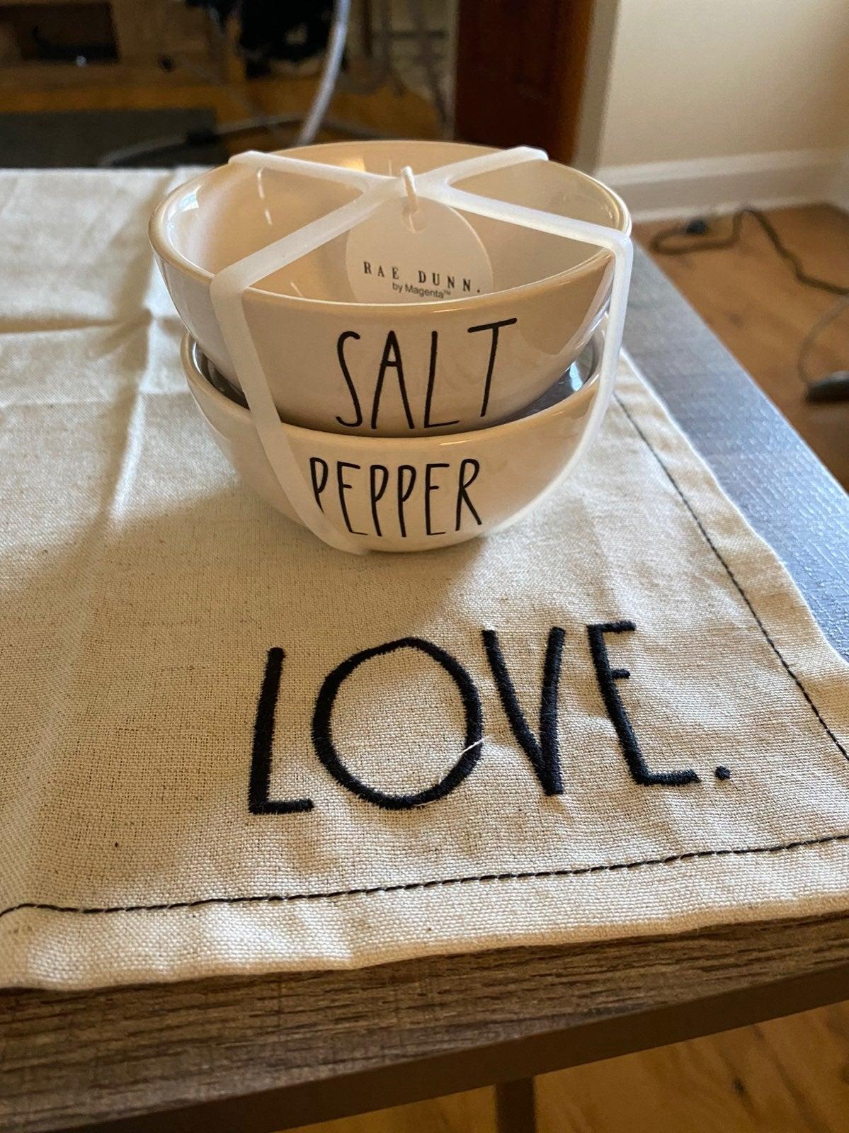 Rae Dunn salt and pepper