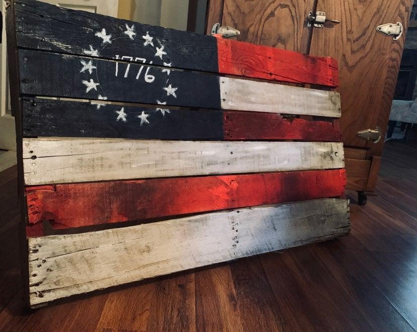 Vintage american flag decoration