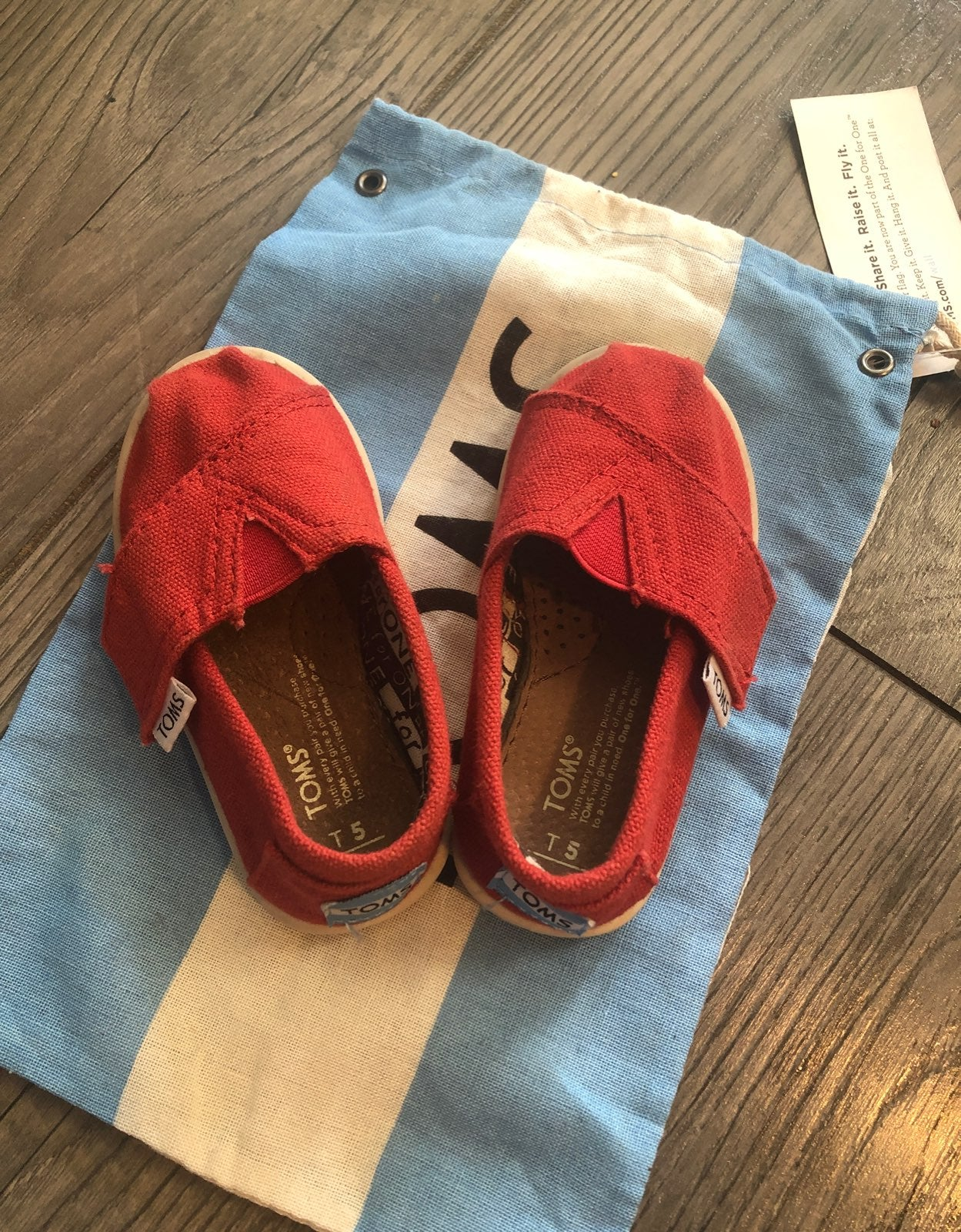 toms baby size 5