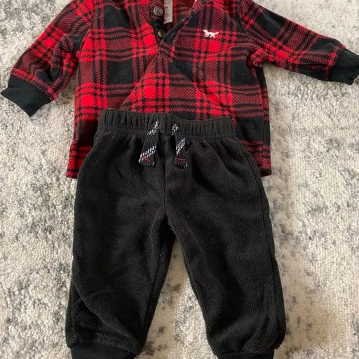 Baby boy buffalo plaid outfit