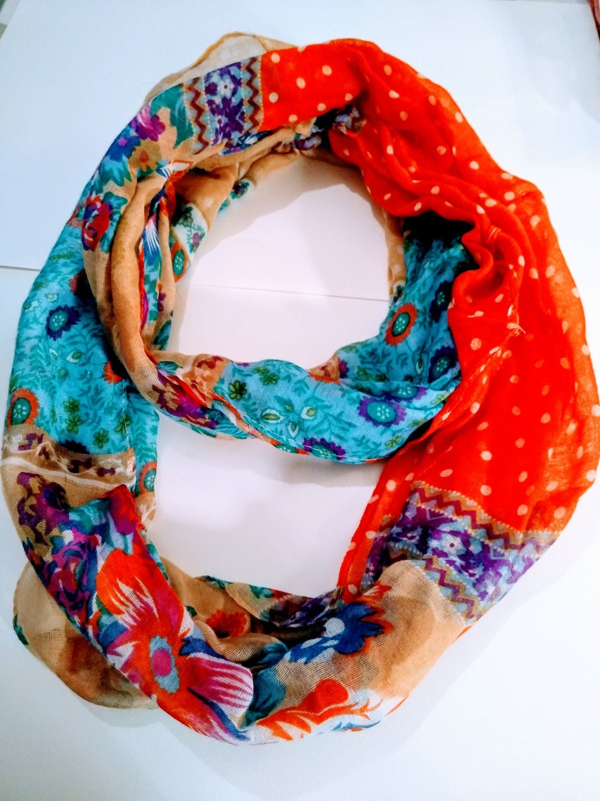 Ladies colorful scarf