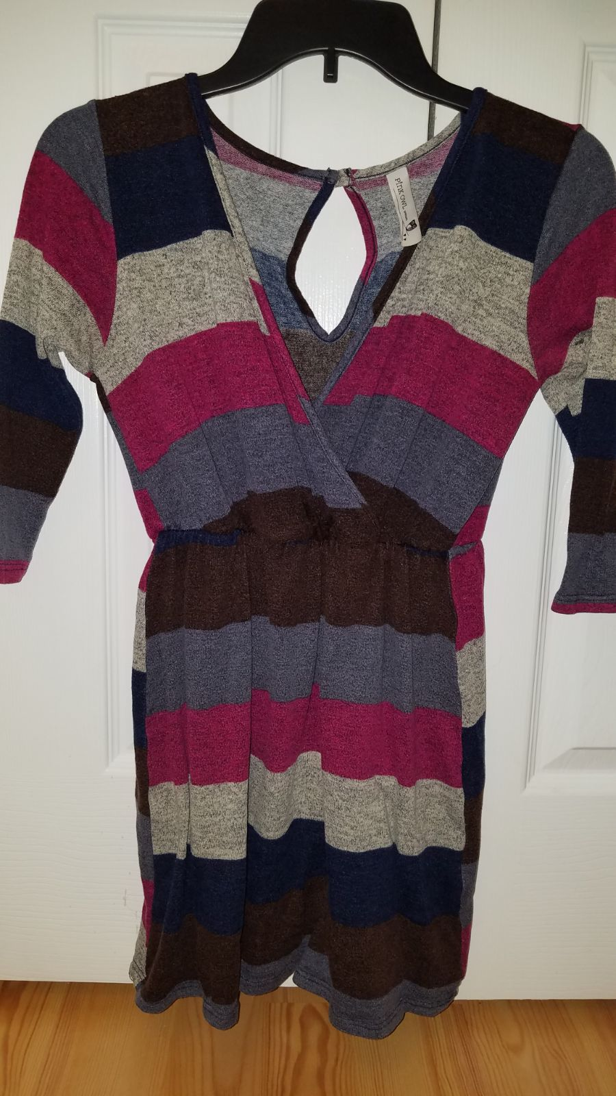 Sweater Dress Women's Small pink owl