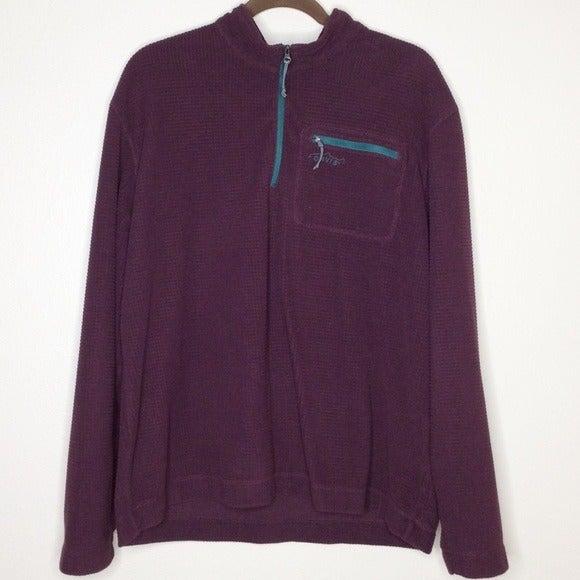 Orvis Trout Bum Sweatshirt L Fleece Zip
