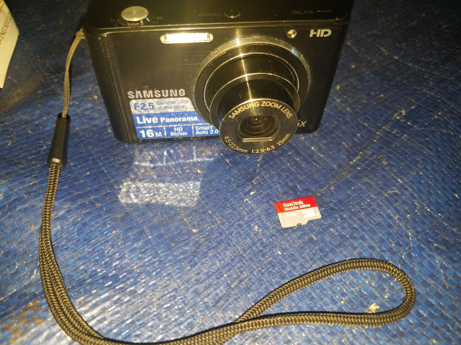 Samsung St76 Camera Works Great + 4gb