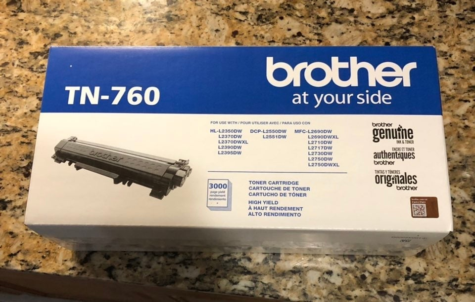 Brother TN760 High-Yield Toner, 3,000 Pa