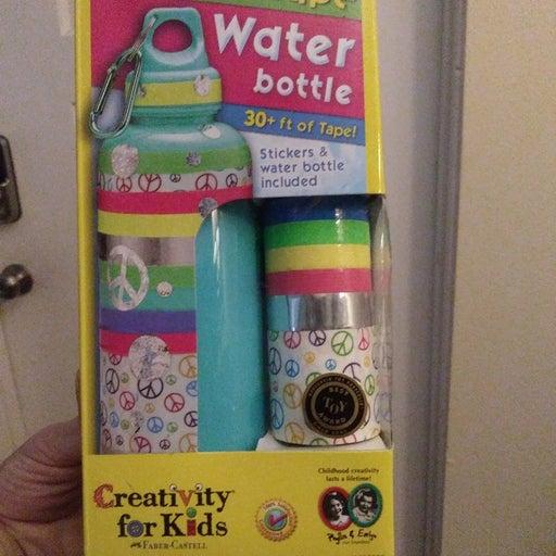 Decorative plastic water bottle