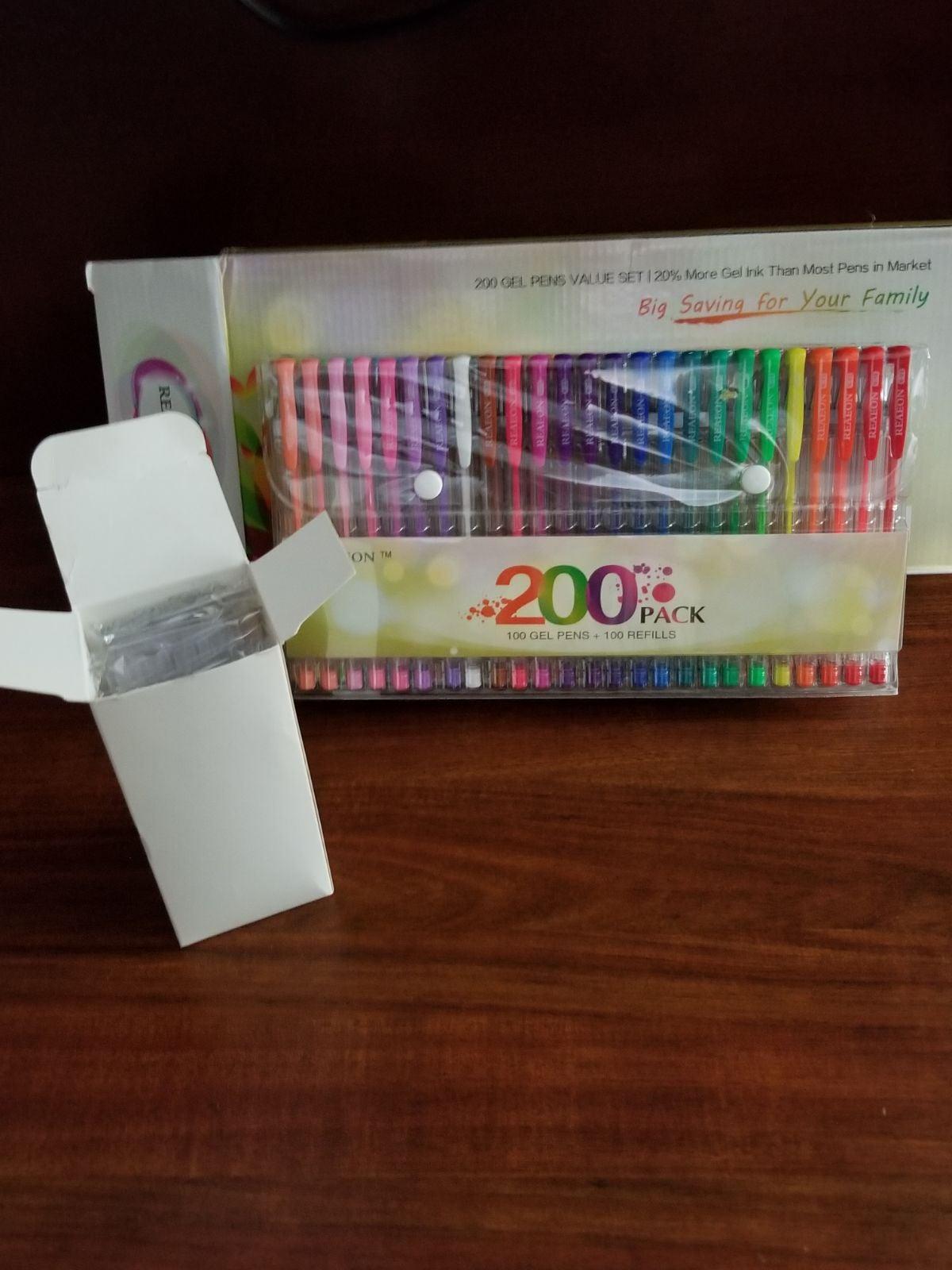 200 Pack Gel Pens NIB