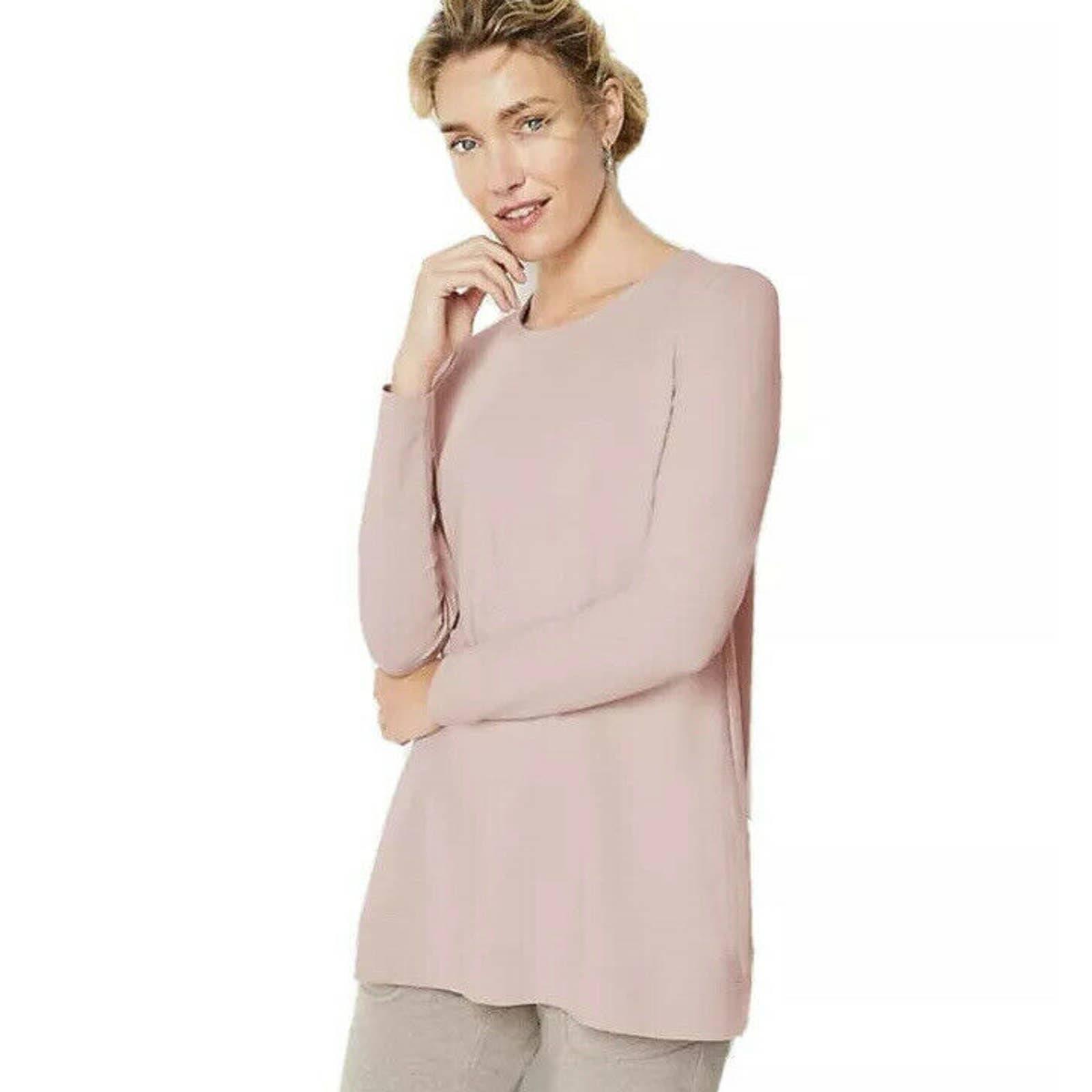NEW J.Jill M Harmony Rib Trimmed Sweater