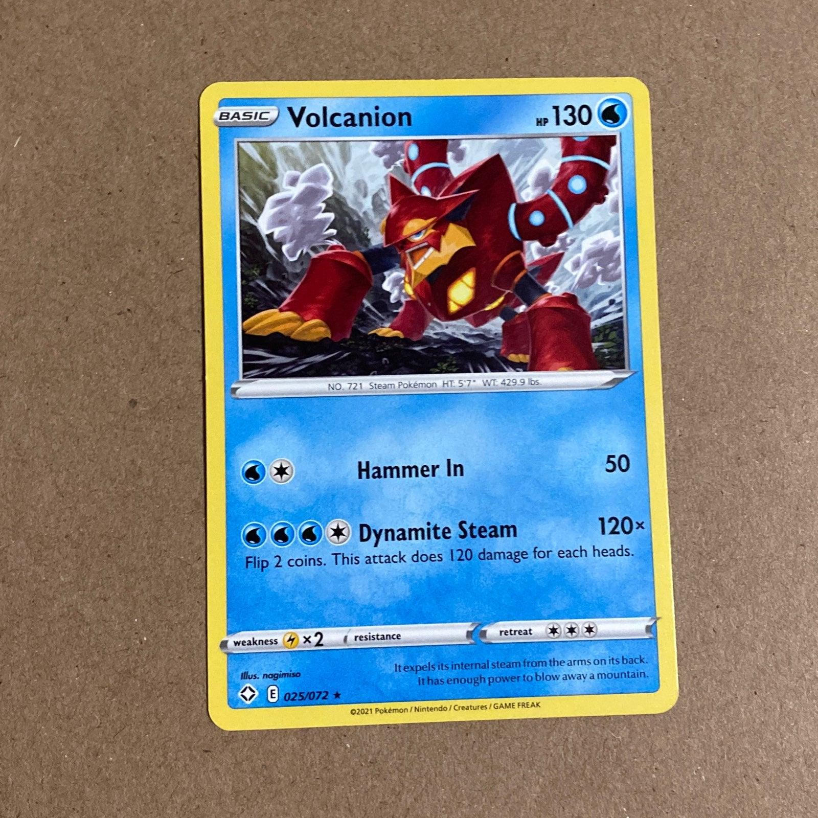 Volcanion Pokemon Card
