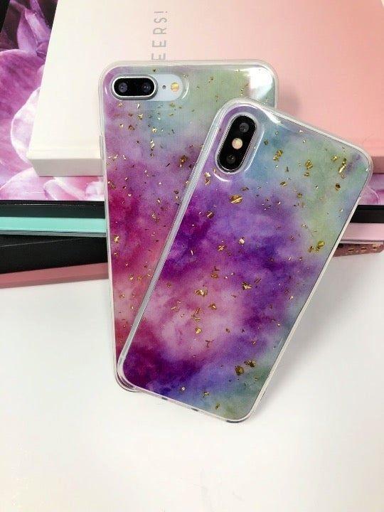 NEW iPhone XR Purple Tie Dye Case