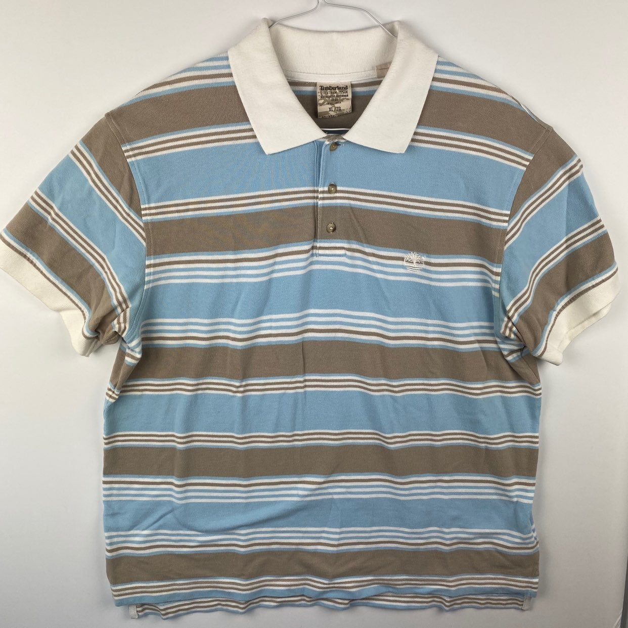 TIMBERLAND Mens XL S/S Striped Polo