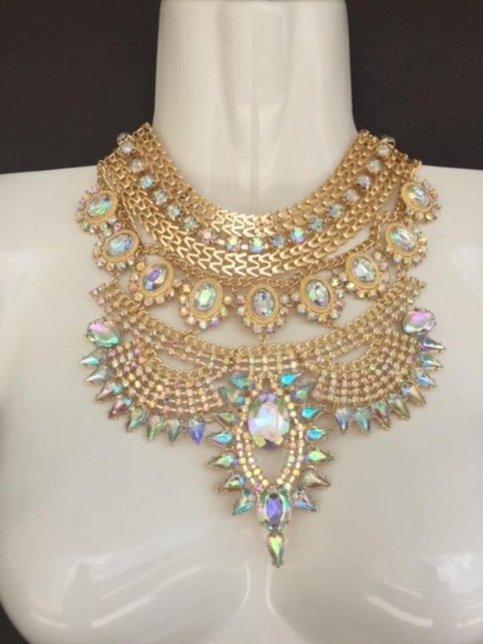 Necklace, Bib, Cleopatra, Rhinestones