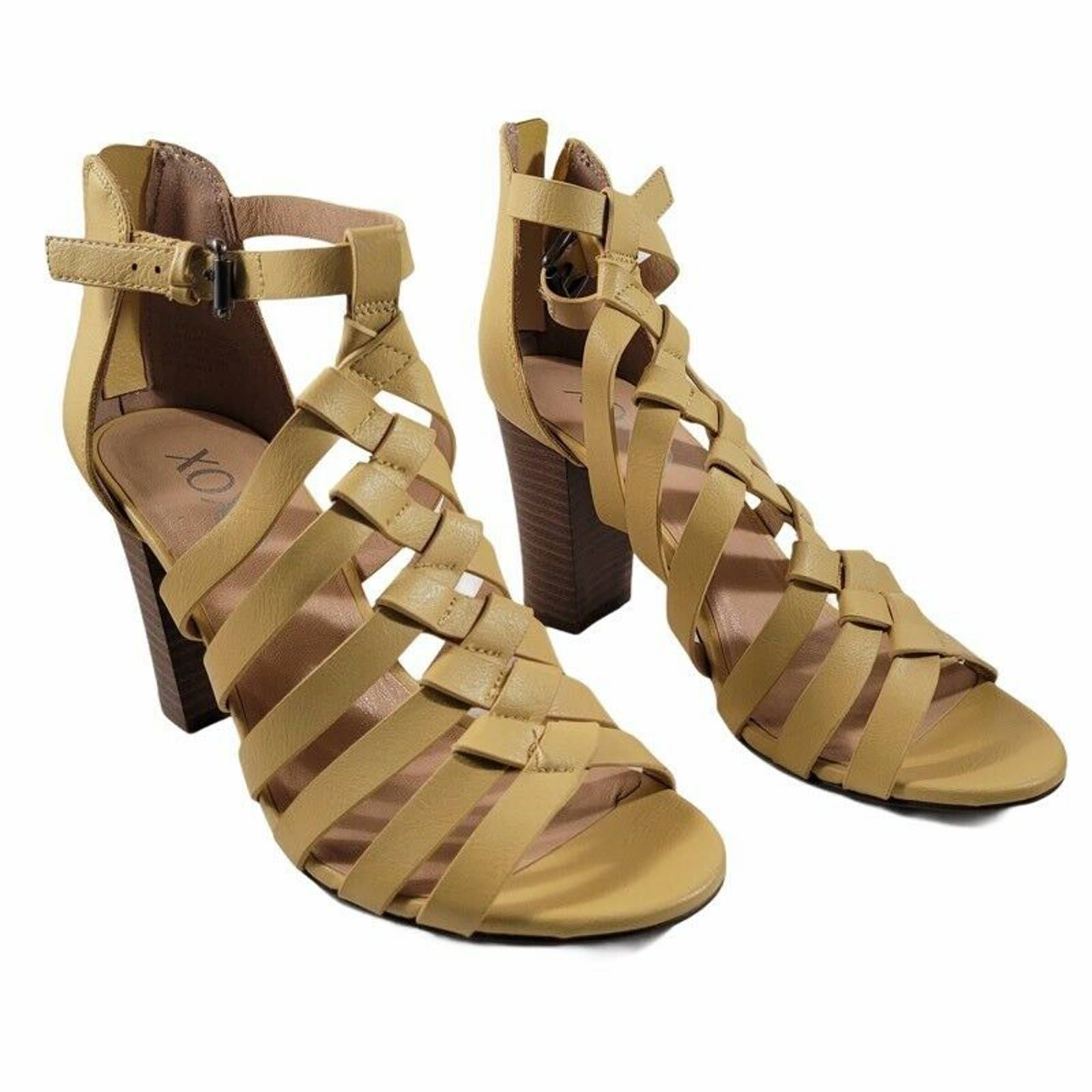 Xoxo Baxter Sandals Yellow Ankle Strap