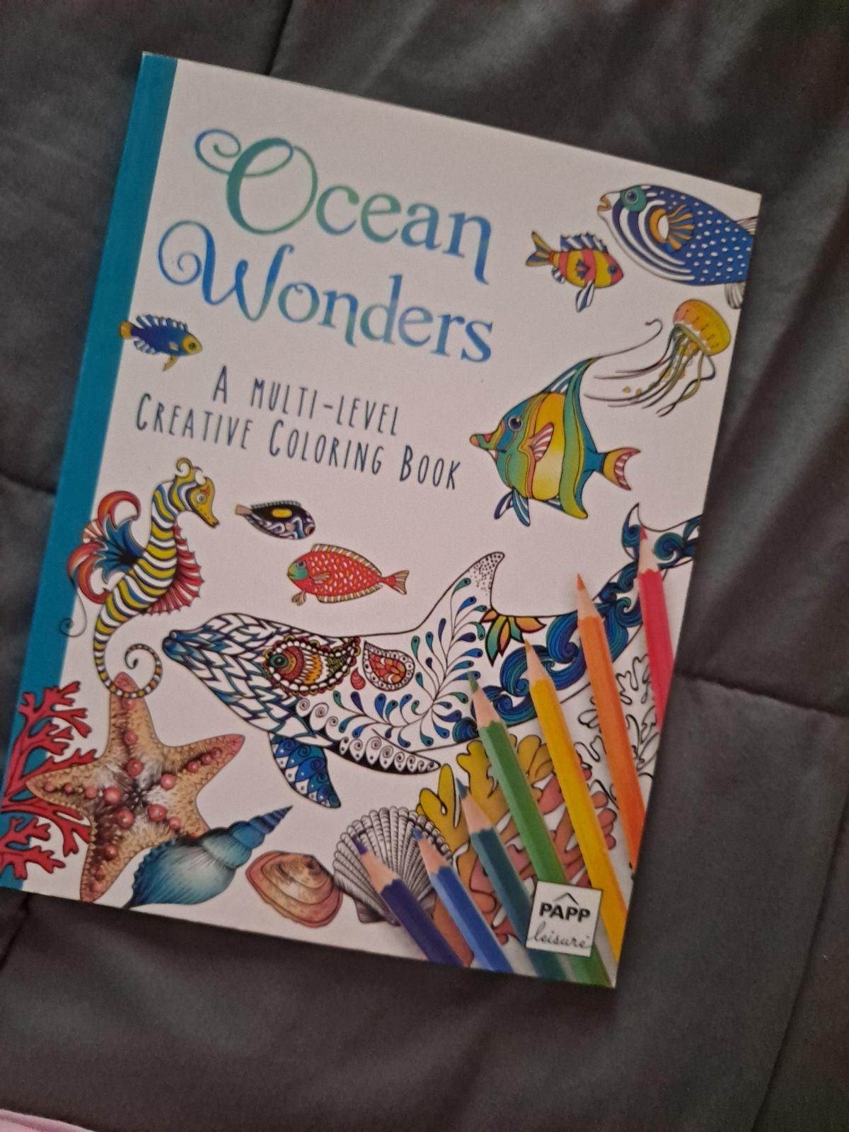 Ocean wonders coloring book