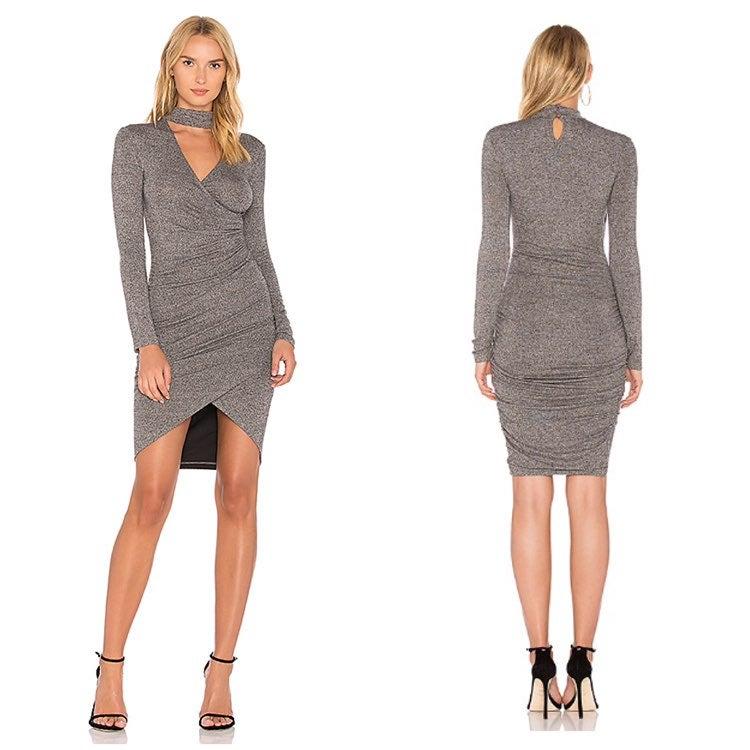 Bardot Size L Alex Knit Choker Dress