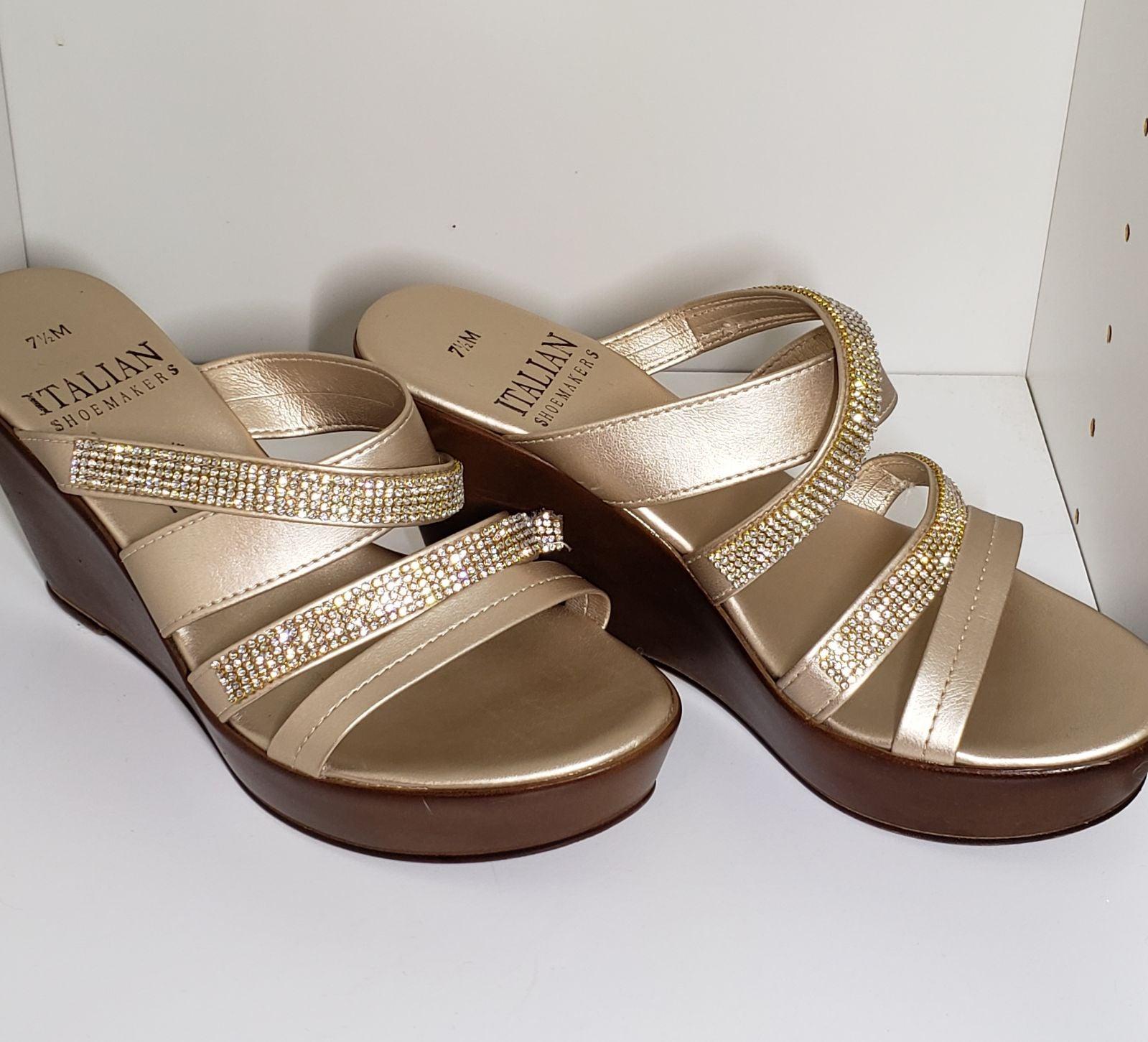 Italian Shoemaker Embellished Sandals