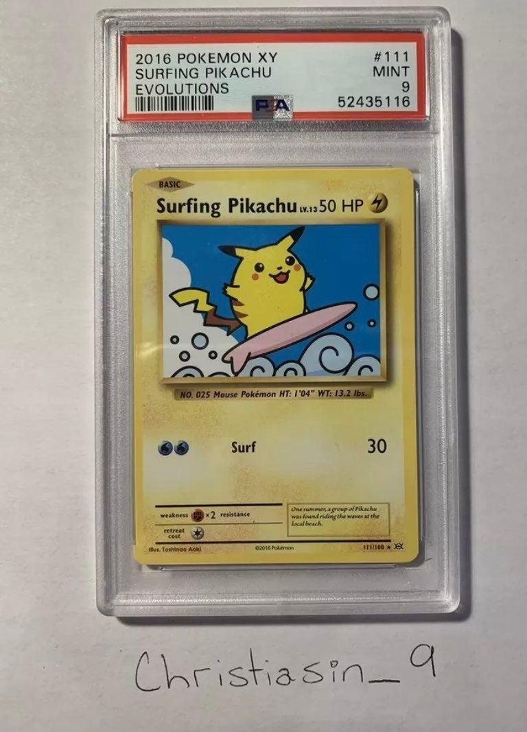 psa Pokemon pikachu surfing pokemon