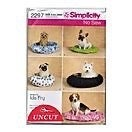 Simplicity No Sew Pet Beds in 2 Styles