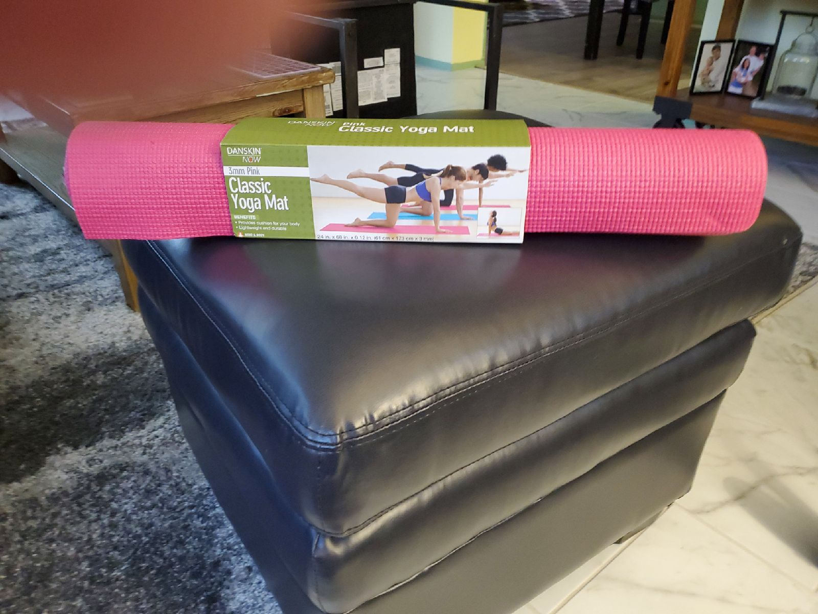 NIB Danskin Now 3mm pink yoga mat