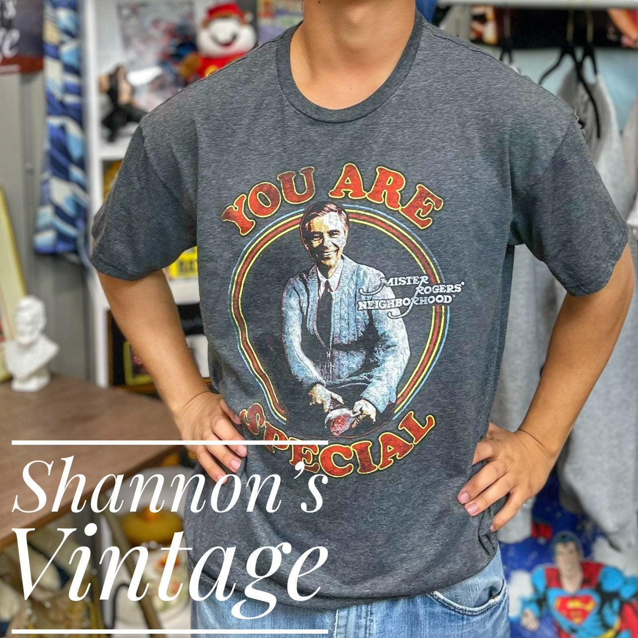 """Mr Rodgers """"You are Special"""" medium tee"""