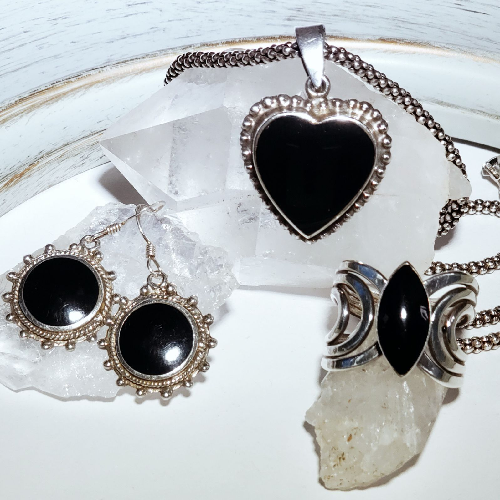 Sterling Silver and Black Onyx set