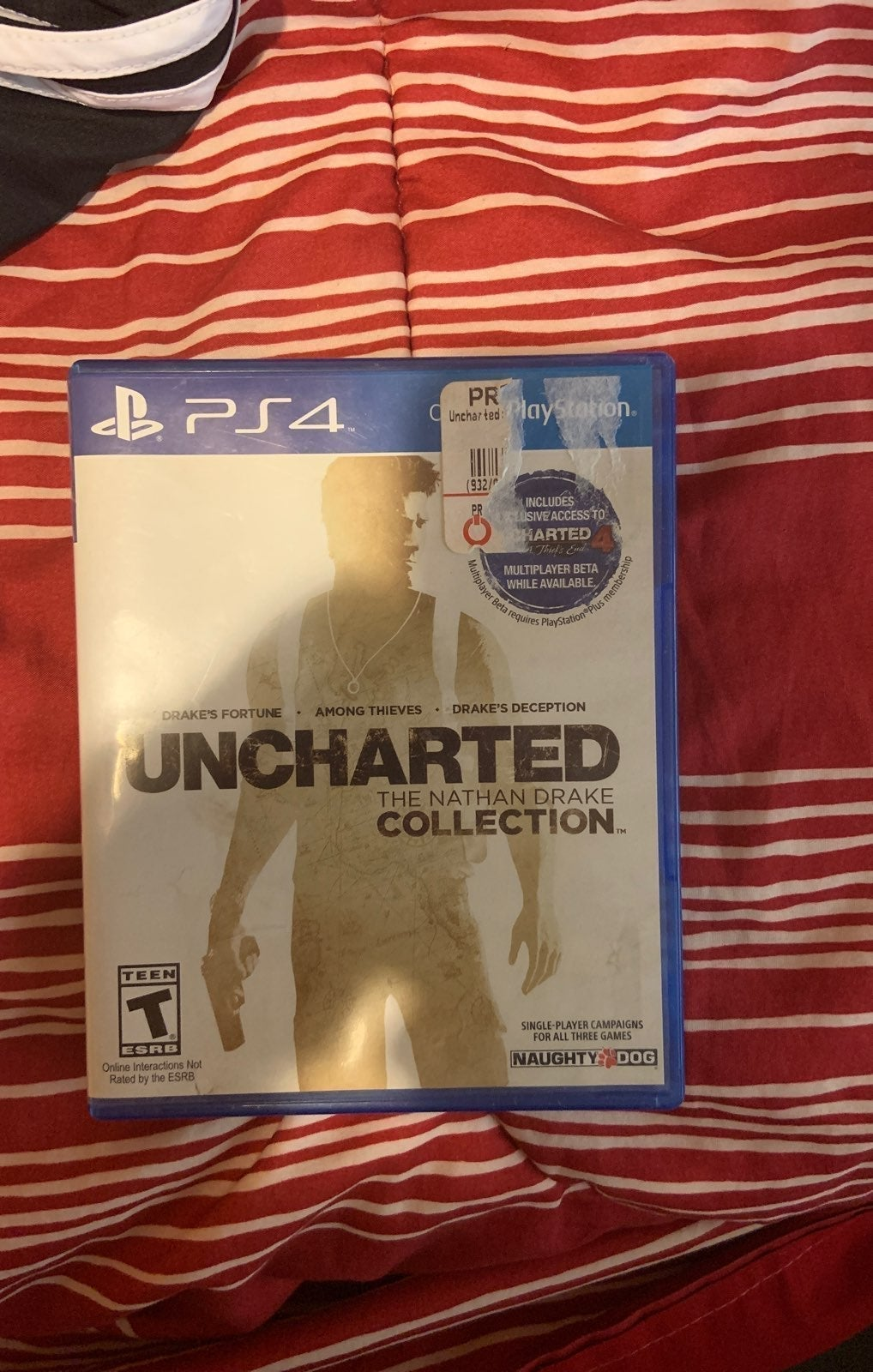 Uncharted 1, 2, 3 Ps4 like new