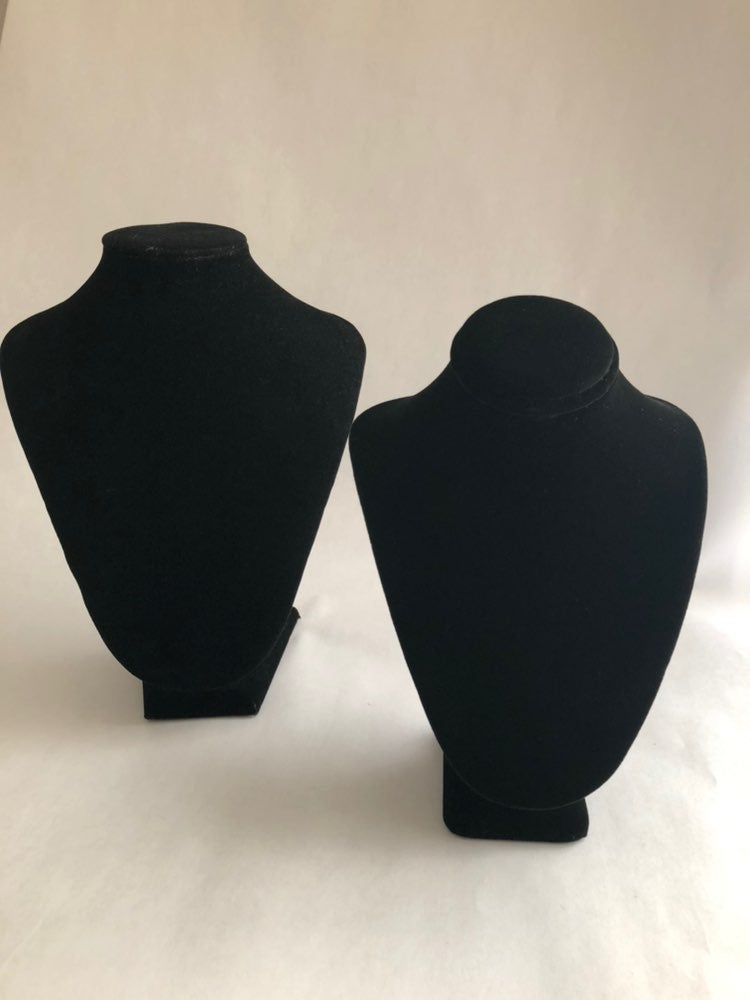 Black Velvet Jewelry Busts (2)
