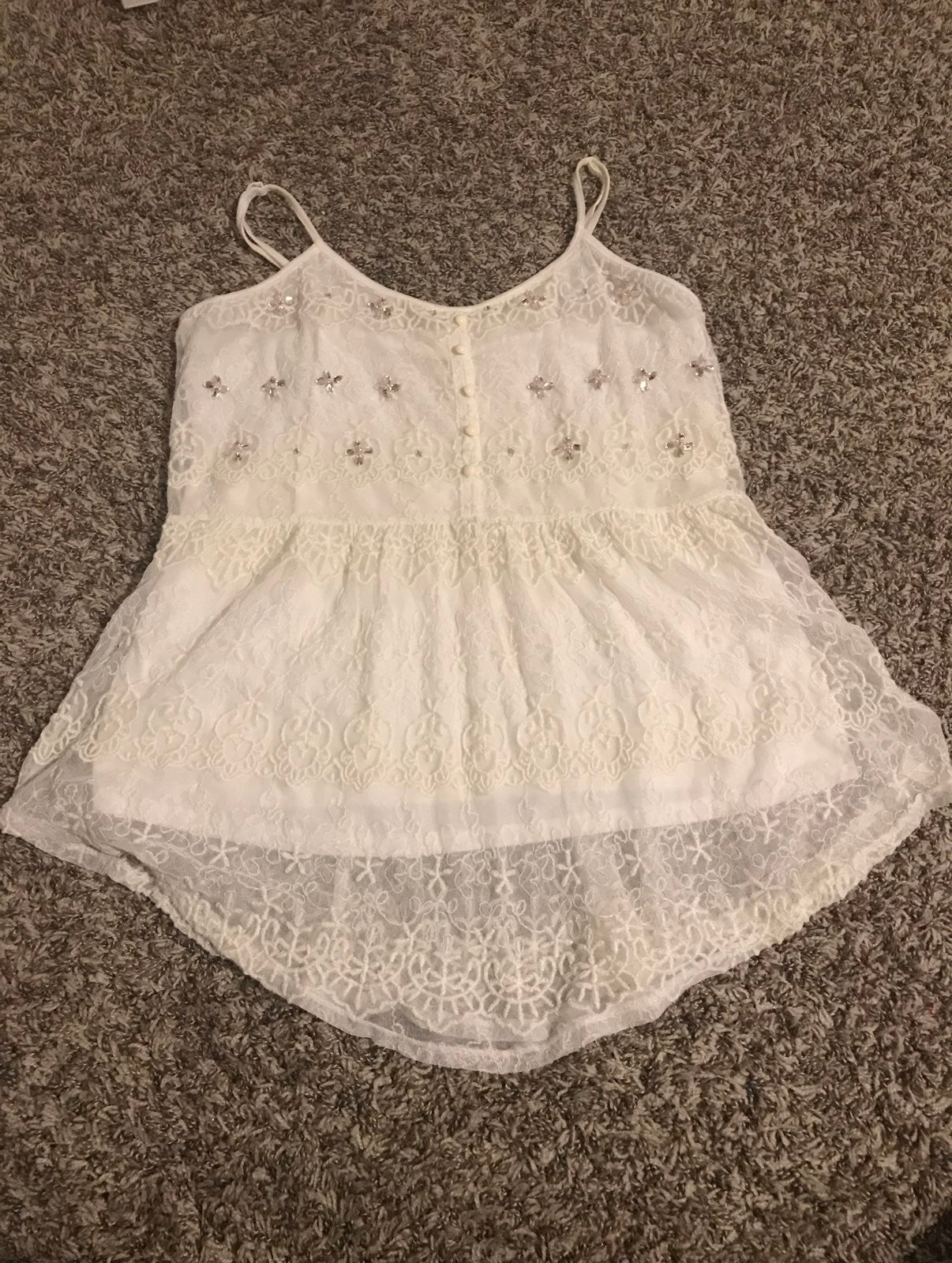 Candie's Lace and Bead Tank Top