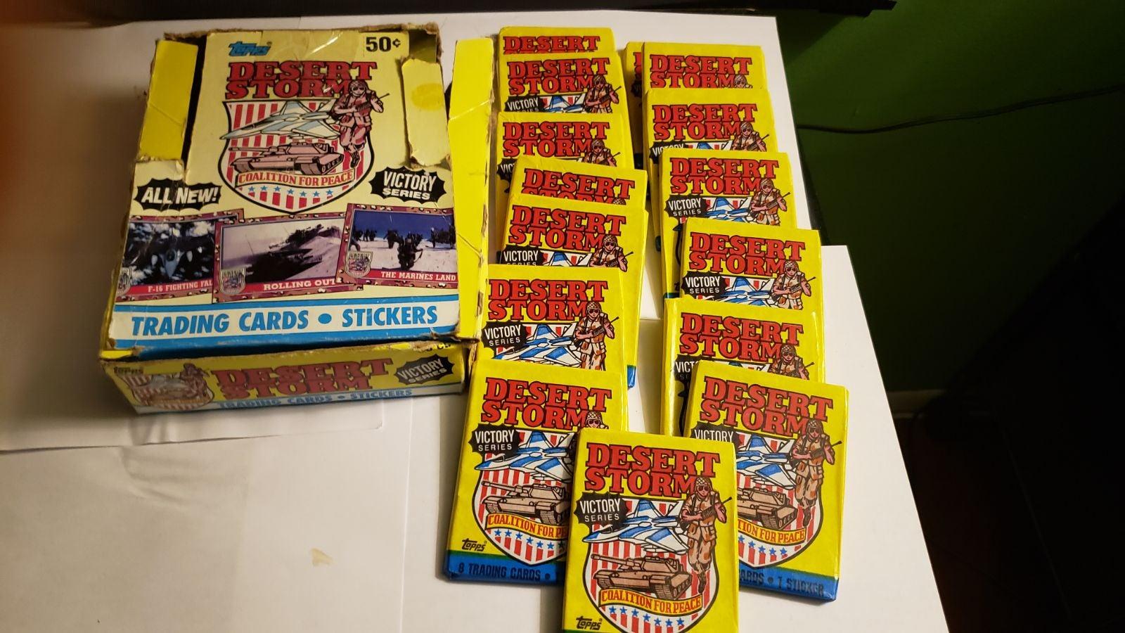 Desert Storm Cards 15 packs + 11 sheets