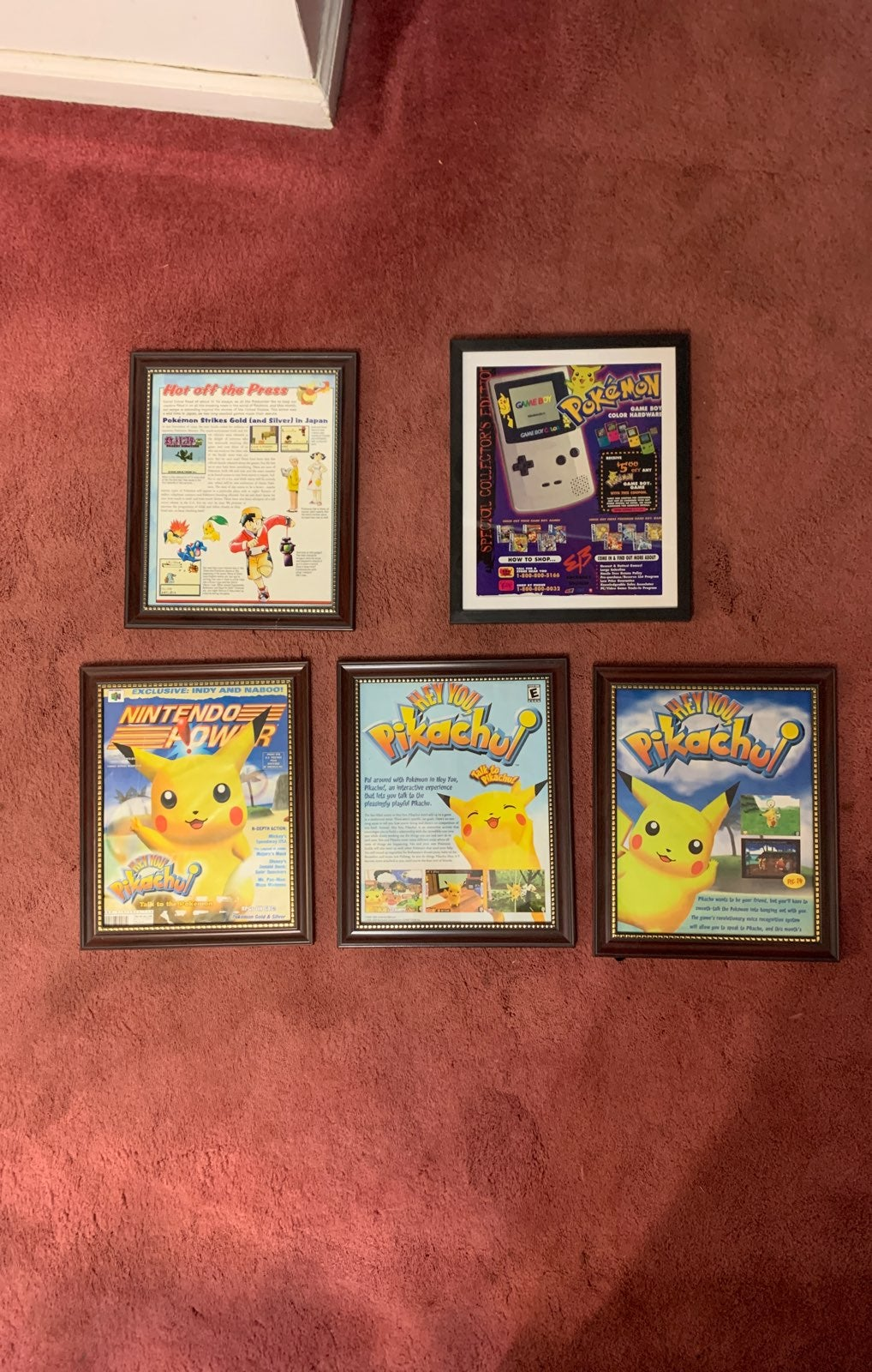 Original Nintendo Power ad set Pokemon