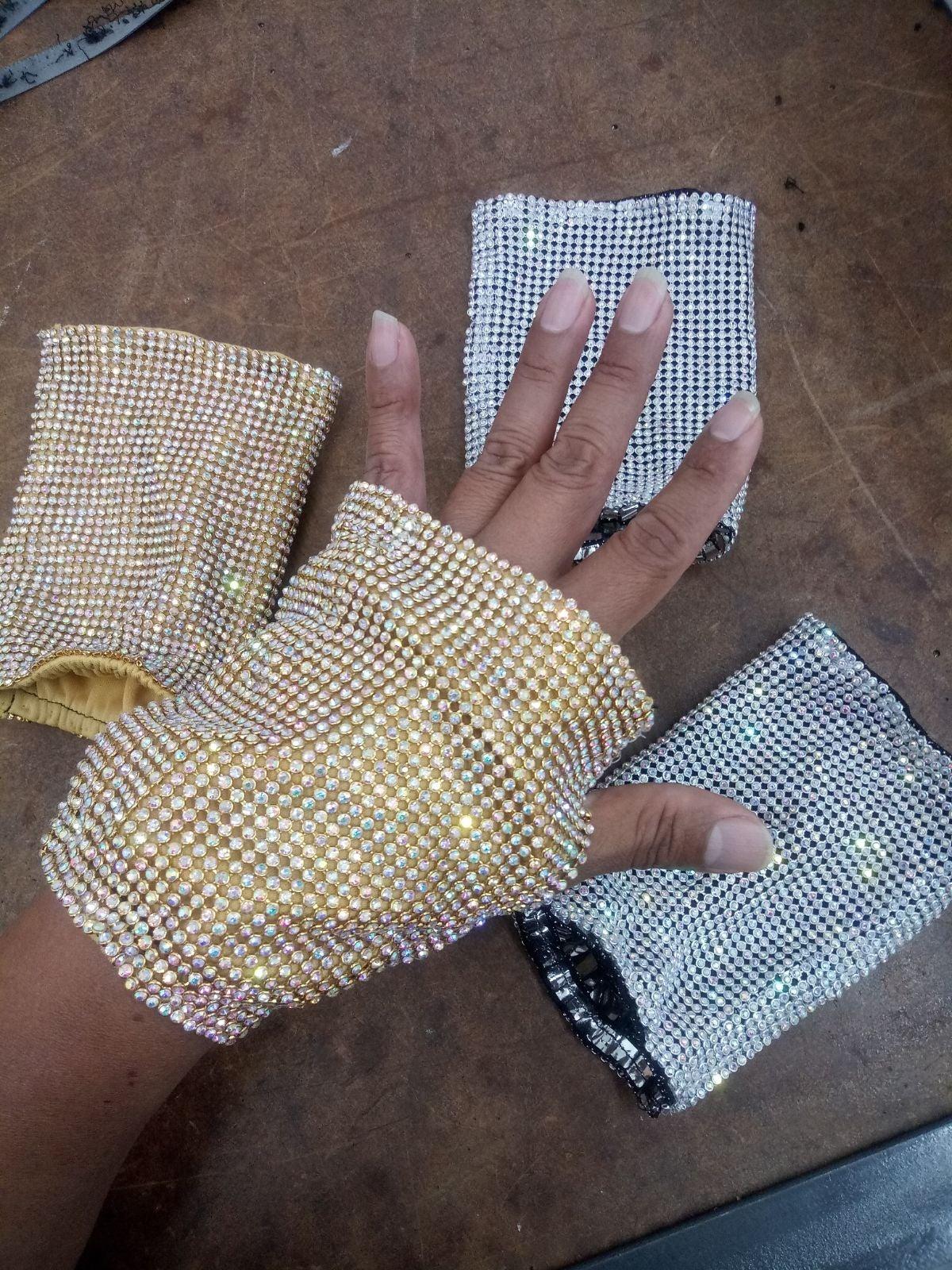 Swarovski Crystals gloves