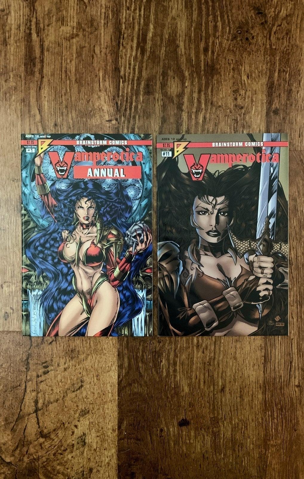 VAMPEROTICA 2 ISSUE LOT! BRAINSTORM!