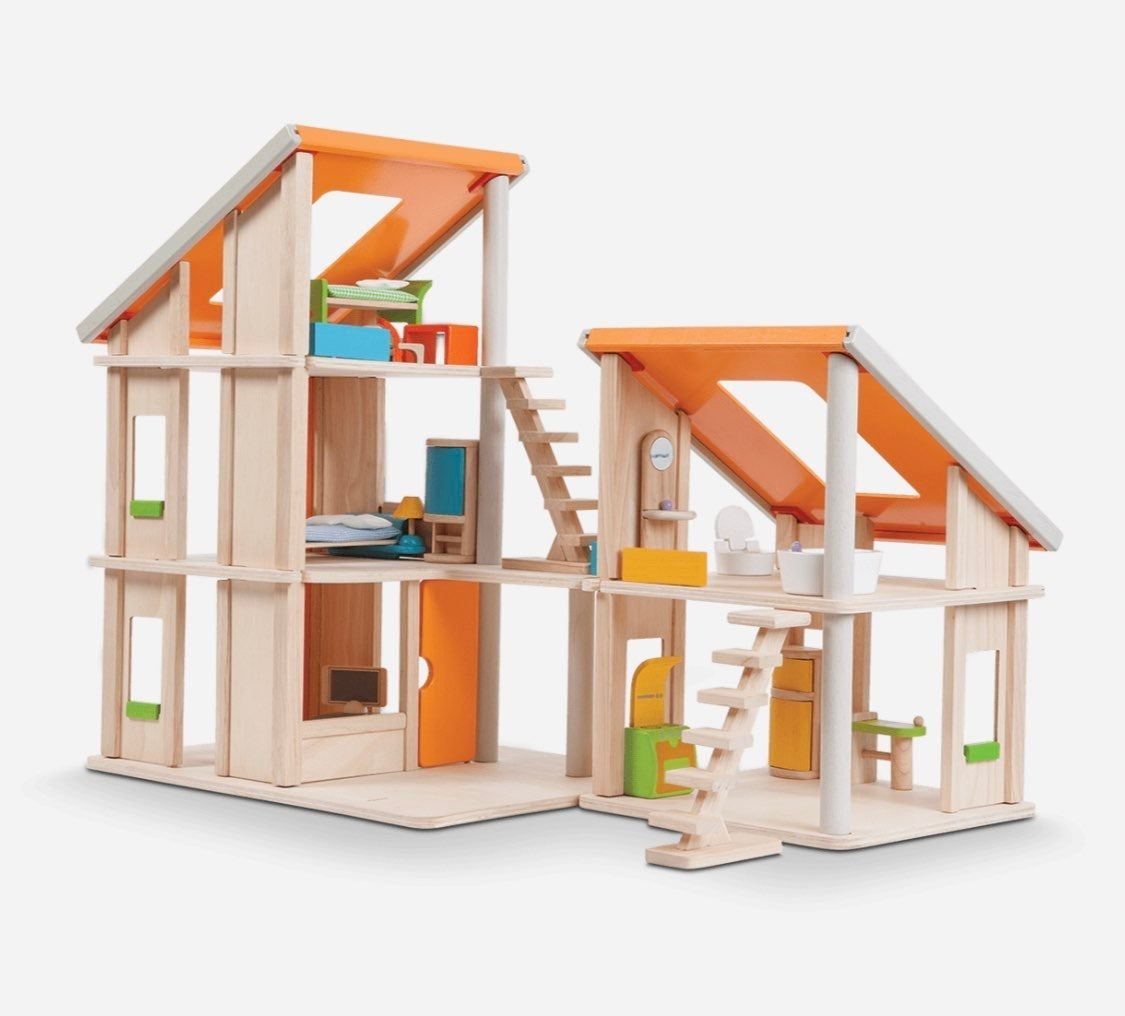 Plan Chalet Dollhouse w/ furniture and f
