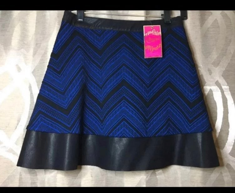 Candie's Royal blue flare mini skirt 5